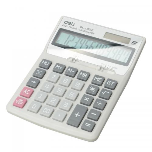 Книжный мир_uz -Deli Калькулятор 12-разрядный Deli