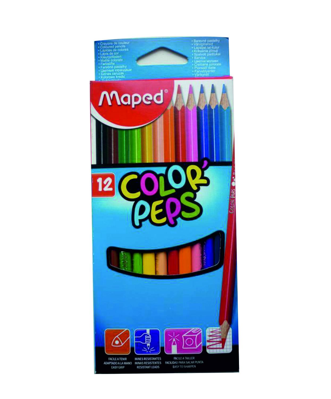 Книжный мир_uz -карандаши Карандаши цветные (12шт),  Maped